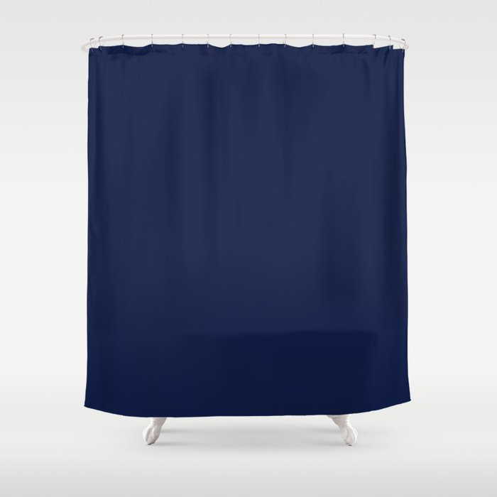 Indigo Navy Blue Shower Curtain