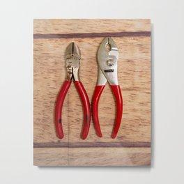 Red Handles Metal Print