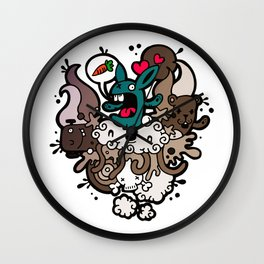 Rabbit Nightmare! Wall Clock