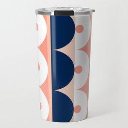 Abstraction_SUN_Mountains_Pattern_Minimalism_001 Travel Mug