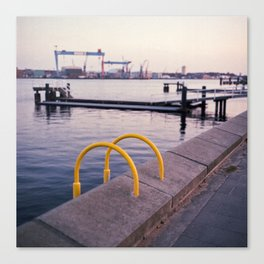 Northern Harbour: Yellow Canvas Print