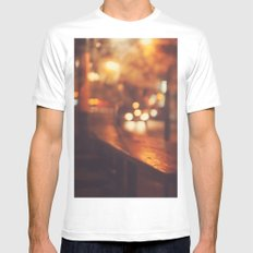 City night White Mens Fitted Tee MEDIUM