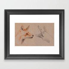 my wolf Framed Art Print
