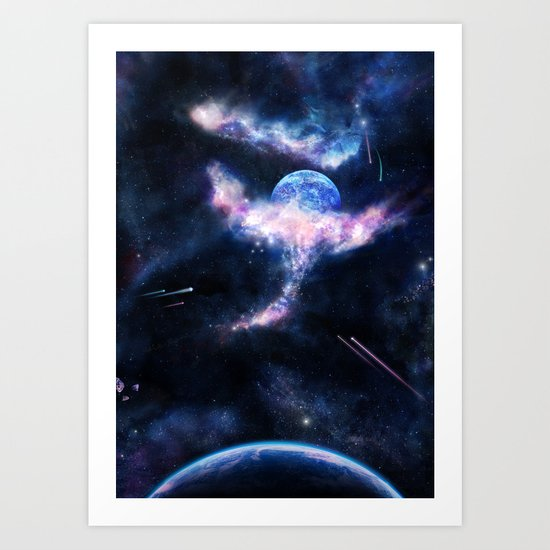 Space Scene Zero One Art Print