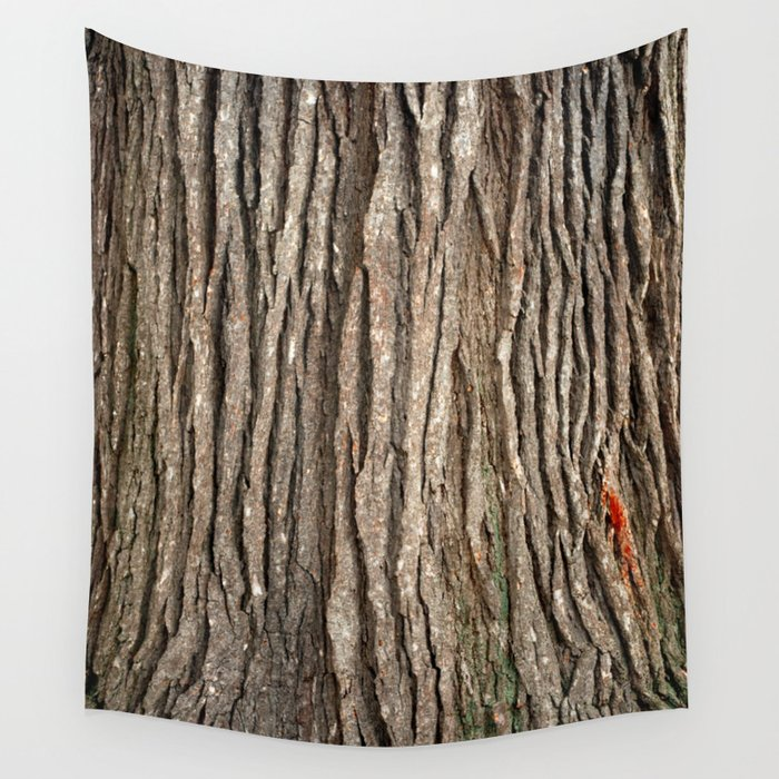 Wood bark Wall Tapestry