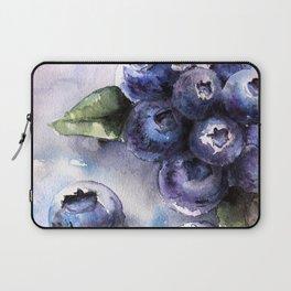 Watercolor Blueberries - Food Art Laptop Sleeve