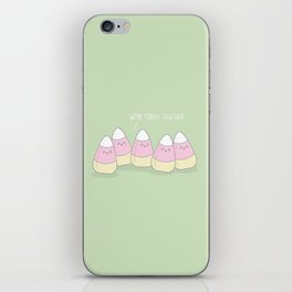 We're Corny Together #kawaii #halloween iPhone Skin