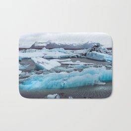 Jökulsárlón Glacier Lagoon, Iceland Bath Mat