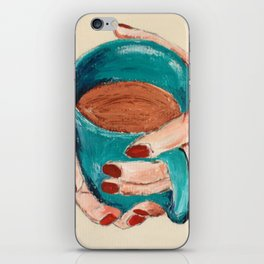 Hands Around A Coffee Mug Original  iPhone Skin