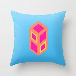 caramel cube Throw Pillow