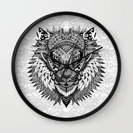 lion aztec art pattern Wall Clock