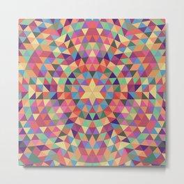 Happy triangle mandala Metal Print