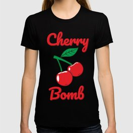 Cherry Bomb Retro Vintage Old Style Design T-shirt