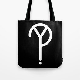White Y? Symbol  Tote Bag