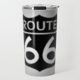 Travel USA sign of Route 66 label. Travel Mug