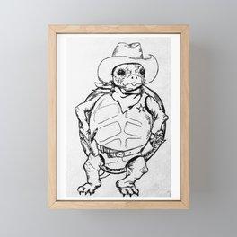 """Quick Draw McGraw"" Turtle sketch Framed Mini Art Print"