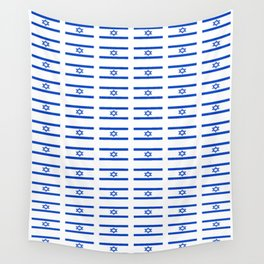 flag of israel 2 -יִשְׂרָאֵל ,israeli,Herzl,Jerusalem,Hebrew,Judaism,jew,David,Salomon. Wall Tapestry