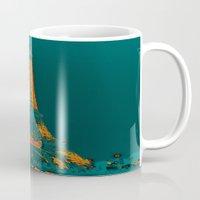 eiffel Mugs featuring Tour Eiffel by Aloke Design