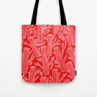woody Tote Bags featuring Woody by yellow pony