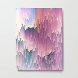 Rainbow Glitches Metal Print