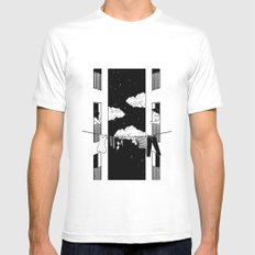 Thinking about you SMALL Mens Fitted Tee White
