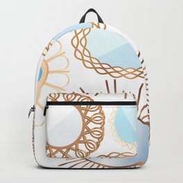 Retro Rattan Midcentury Mirrors in Natural Backpack