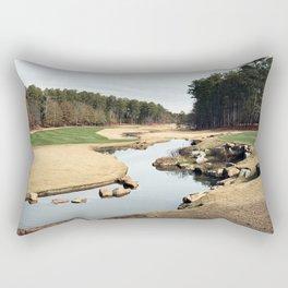 Golf Creek Winding Rectangular Pillow