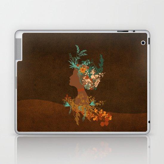 Mujer floral Laptop & iPad Skin
