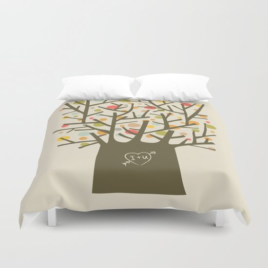 "The ""I love you"" tree Duvet Cover"