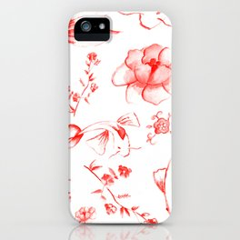 Watercolor KOI Fish in red iPhone Case