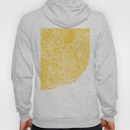 lisbon map yellow Hoody