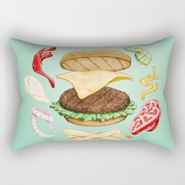 Burger Mandala Rectangular Pillow