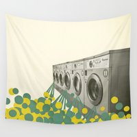 waterfall Wall Tapestries featuring Waterfall by Cassia Beck