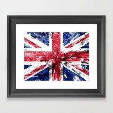 Britain Flag - Extrude Framed Art Print