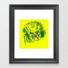 Predator (neon) Framed Art Print