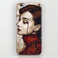 audrey iPhone & iPod Skins featuring Audrey  by Olechka