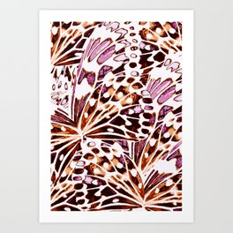 abstract butterflies Art Print