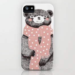 OSO, the bear with the big scarf.  iPhone Case