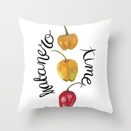Habanero time Throw Pillow