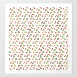 Watermelon Pattern Art Print