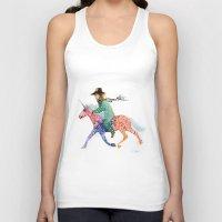 cowboy Tank Tops featuring Cowboy by Ksenia Sapunkova