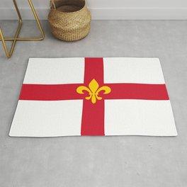 Lincoln city flag united kingdom great britain Rug