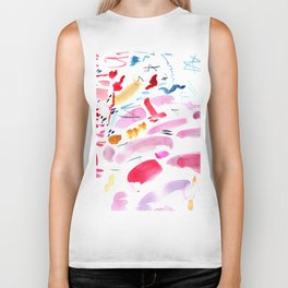 Abstract Swashes Biker Tank