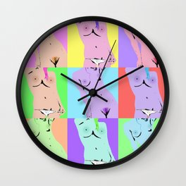 Woman Collage Wall Clock