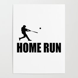 home run baseball sports hobby Poster