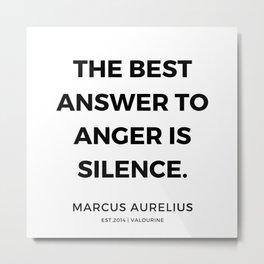 1    | Marcus Aurelius Quotes | 200107 Metal Print