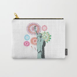 The Statue of Liberty and Fireworks Carry-All Pouch