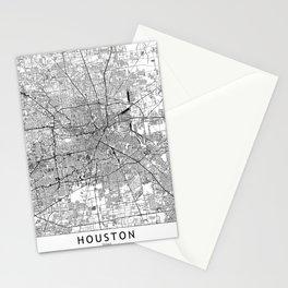 Houston White Map Stationery Cards