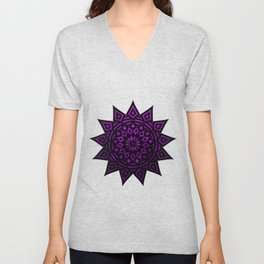 Purple Star | Tam Tam | Mandhala Unisex V-Neck