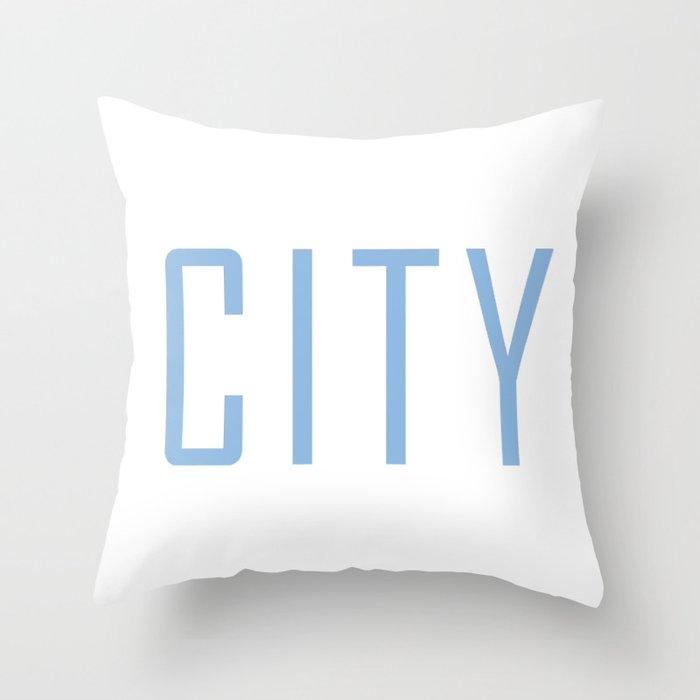 City Powder Blue Throw Pillow